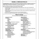 Format For Curriculum Vitae