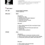 Free Sample Of Curriculum Vitae