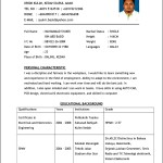 Good Example Curriculum Vitae
