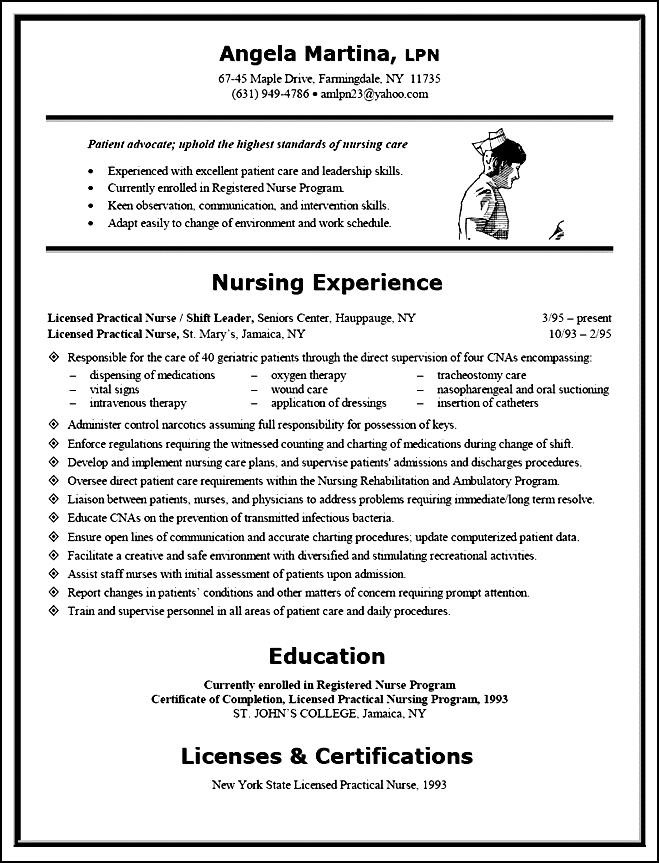 Nursing Curriculum Vitae Sample Example Free Samples