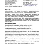 Sample Curriculum Vitae For Adjunct Professor