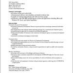 Sample Curriculum Vitae Pdf