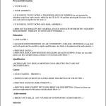 Standard Curriculum Vitae Format