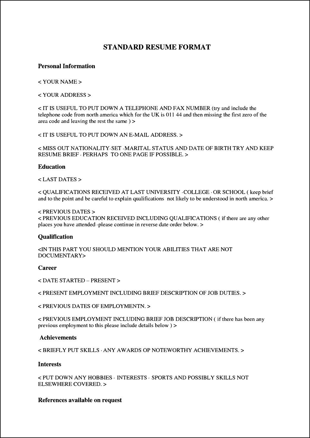 how to survive resume font size resume best standard resume