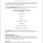 Undergraduate Curriculum Vitae Sample