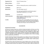 Veterinary Curriculum Vitae Example