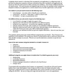 Academic Resume For Graduate School