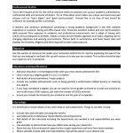 Academic Resume Format Sample