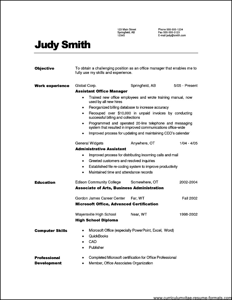 Administrative Assistant  Office Manager Resume Example
