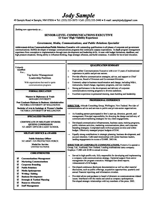 best resumes for executives free sles exles