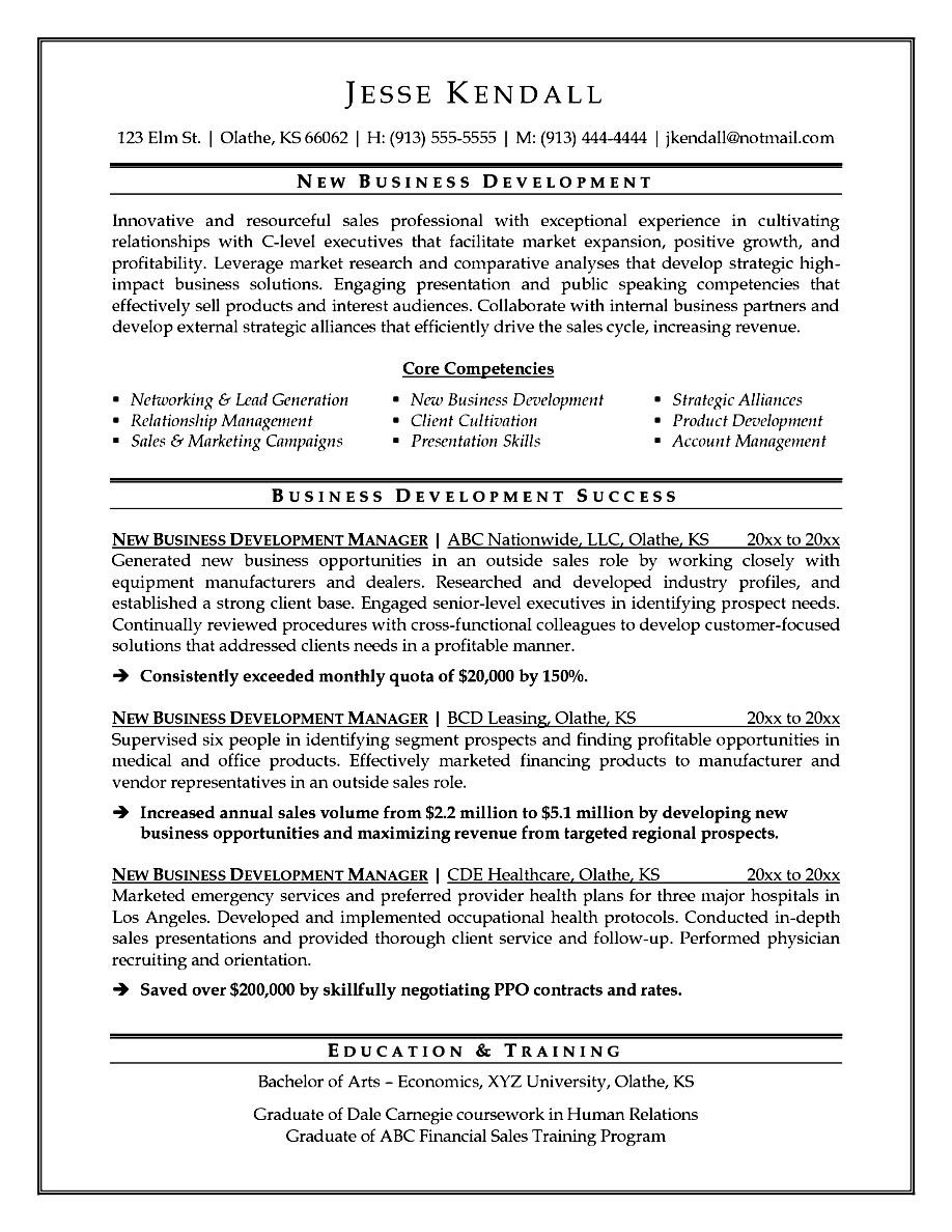 How To Write A Resume Business Owner