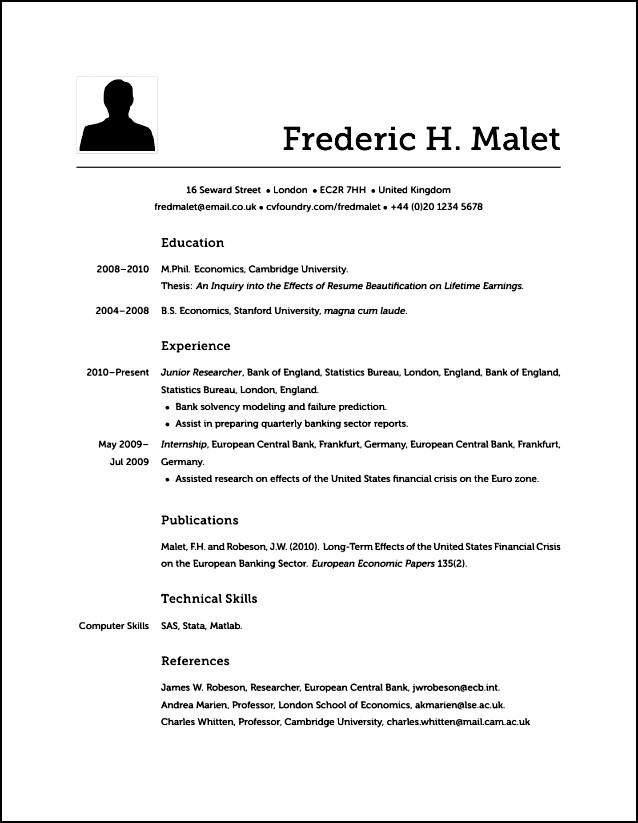 does modern resume look like