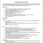 Duties Of An Office Assistant Resume
