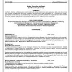 Executive Administrative Resume