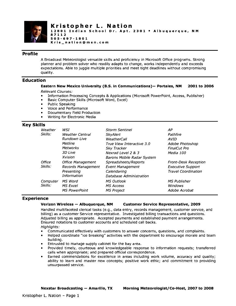 Executive Assistant Resume Format Free Samples