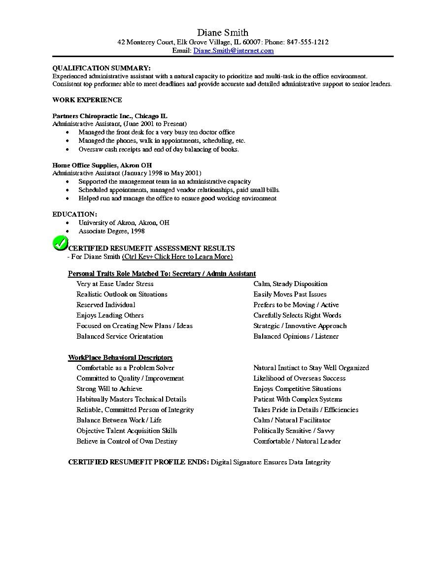 executive assistant resume template  free samples