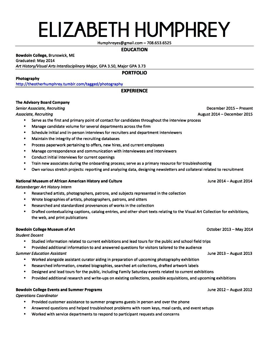 executive resume template 2016