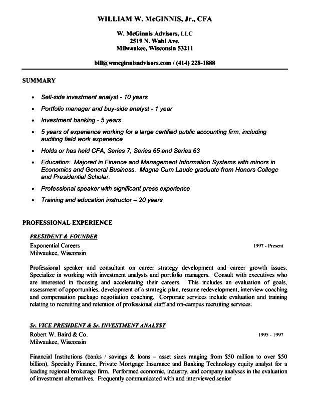Executive resume writting
