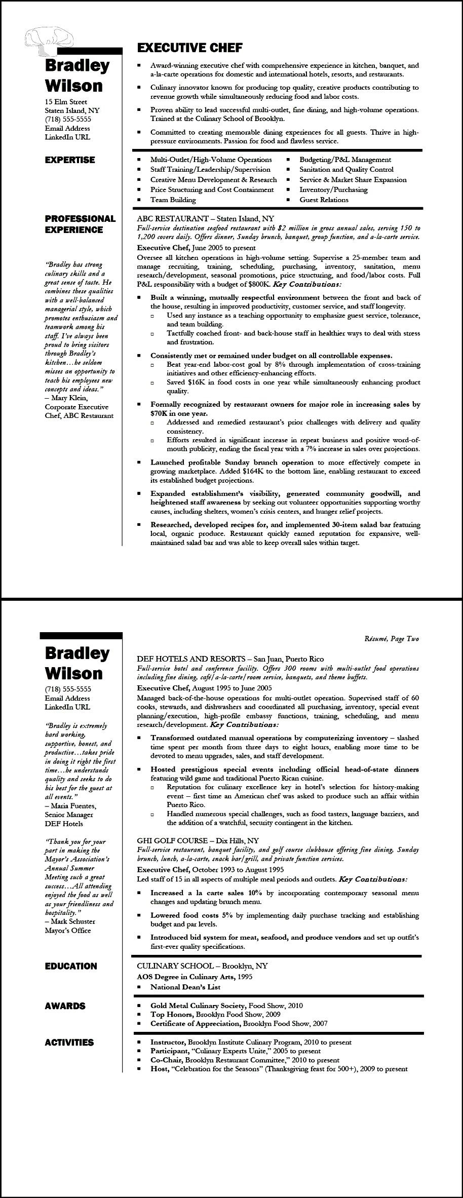 executive resumes inc free sles exles format