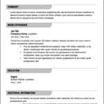 Free Professional Resume Template 2016