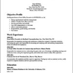 resume format for front office executive and admin free samples