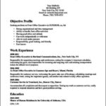 Front Office Executive Resume Tips