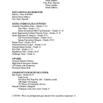 High School Academic Resume