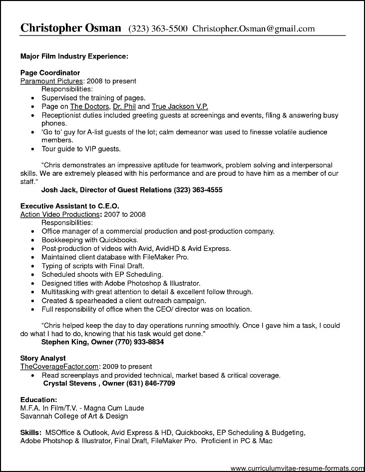 job duties office manager resume