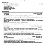Latex Resume Template Academic