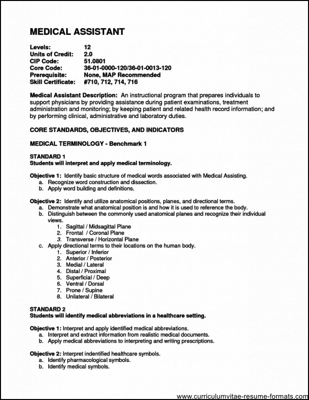 Medical Office Assistant Resume Objective Free Samples