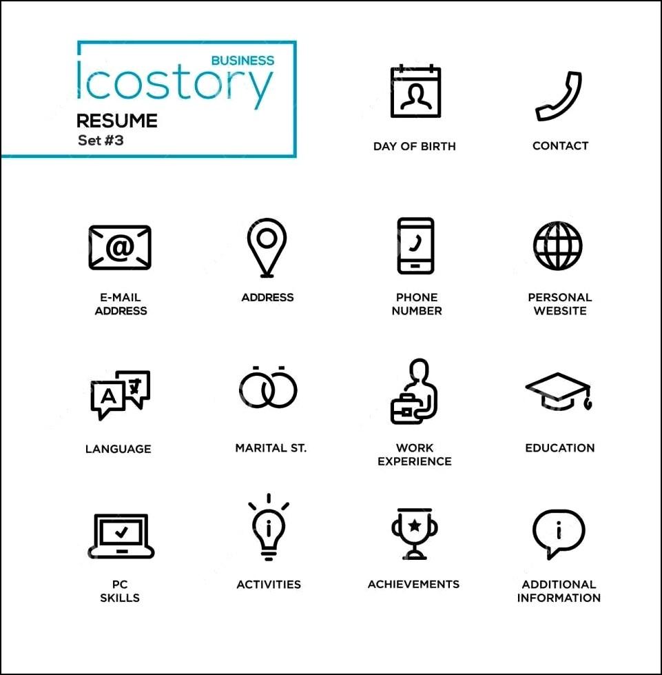 modern resume icons