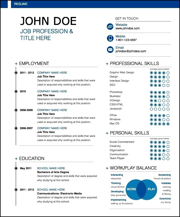 modern resume sample