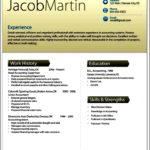 Modern Resume Template Doc