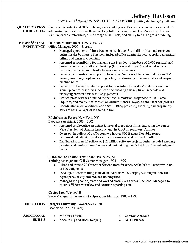 office administrator resume examples