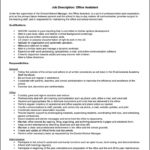 Office Assistant Description For Resume