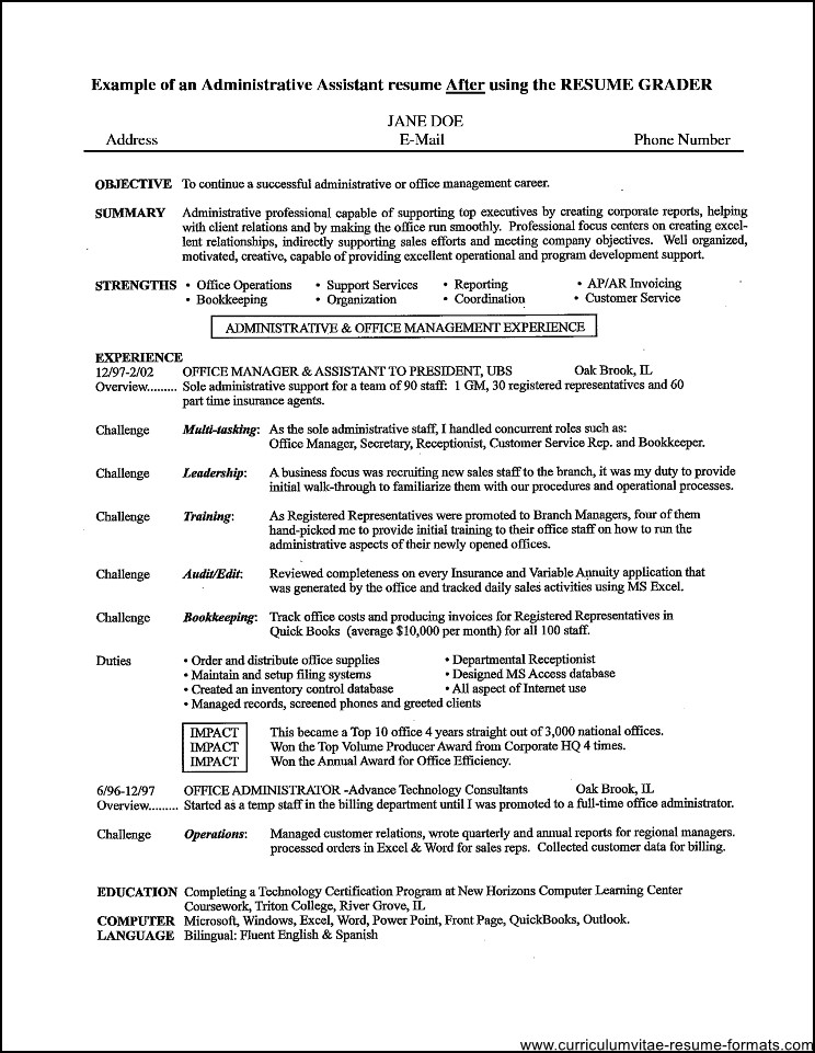 office assistant resume samples