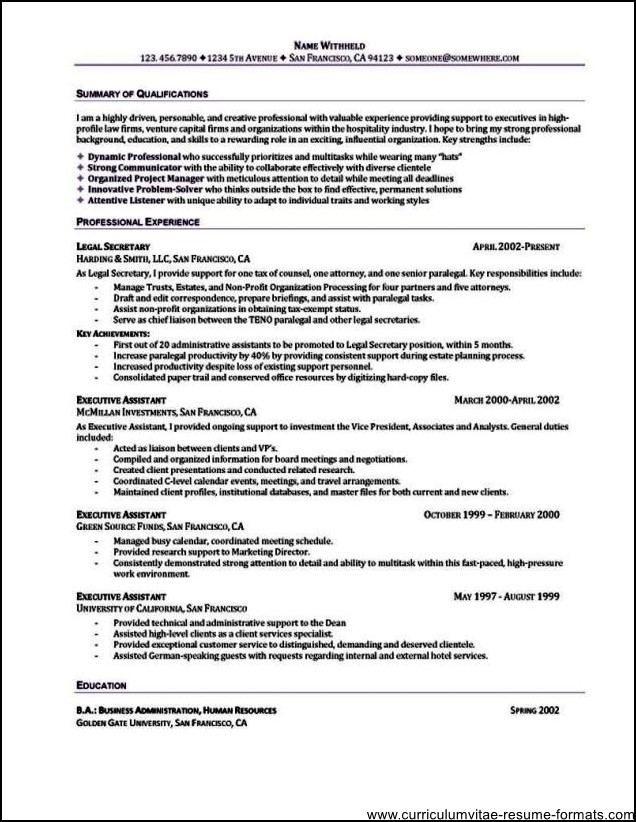 free sample of office assistant resume – Resume Templates for Office Assistant