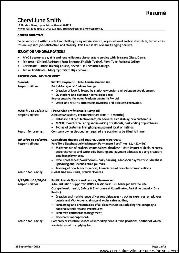 Resume help office manager