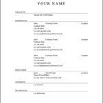Openoffice.Org Resume Template