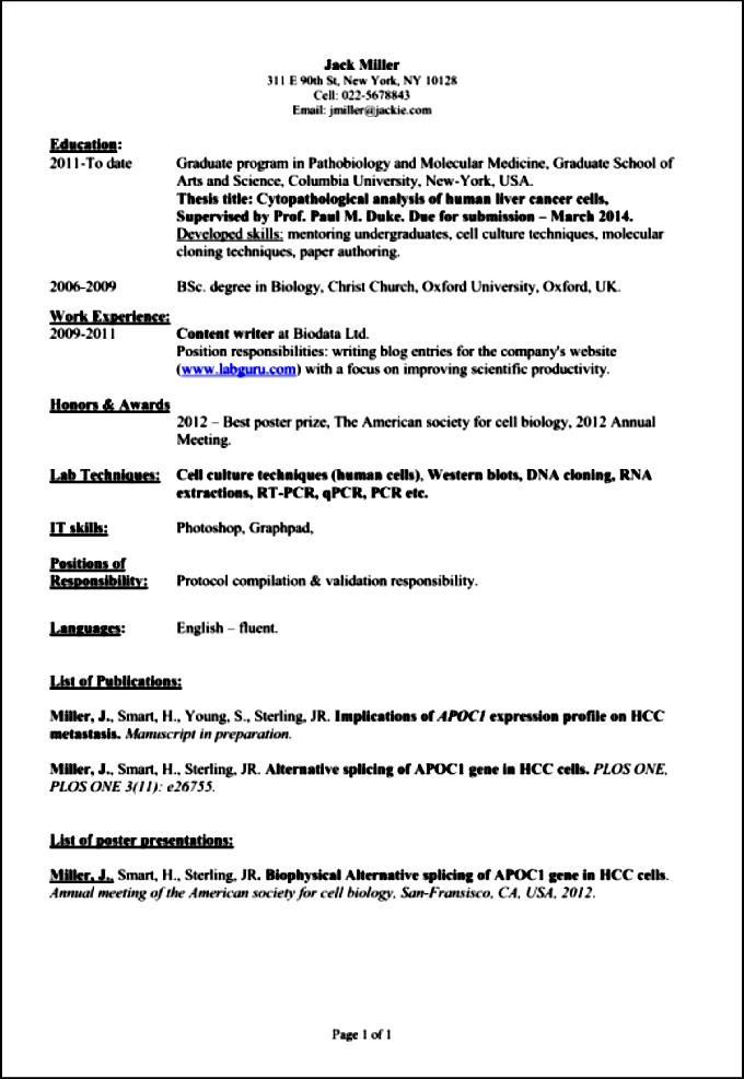 Professional-Academic-Resume Elegant Curriculum Vitae Samples on