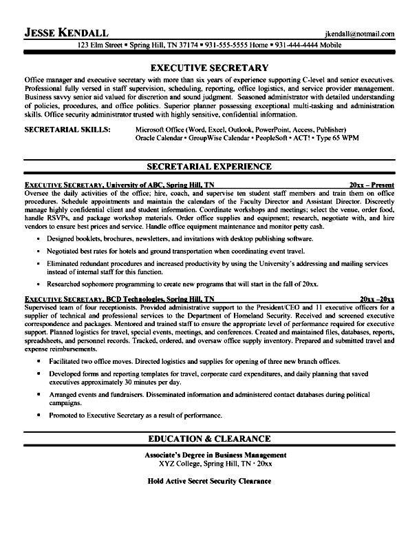 Professional resume writers executive