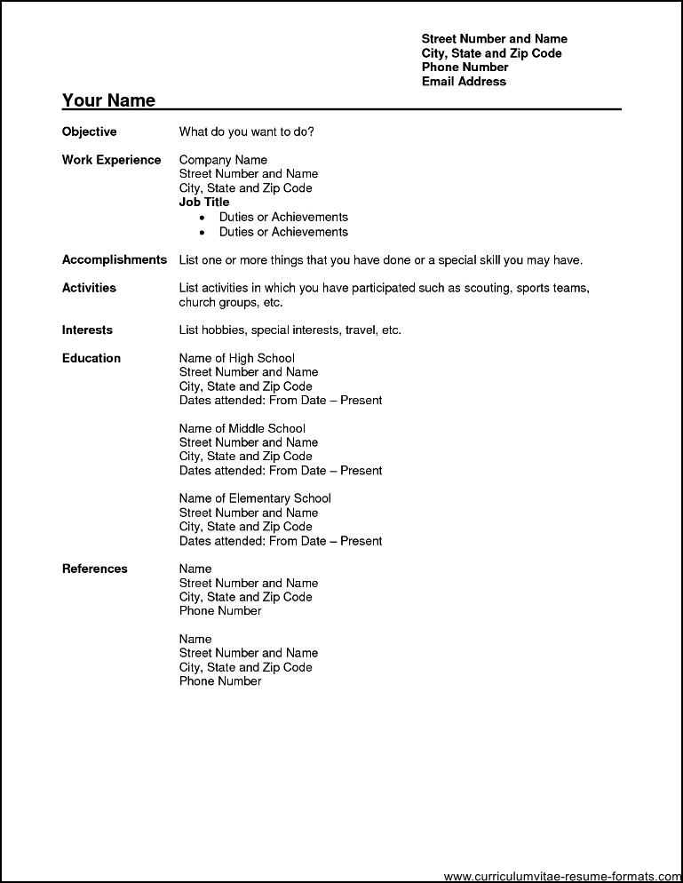 resume format free download pdf templates word for freshers professional file