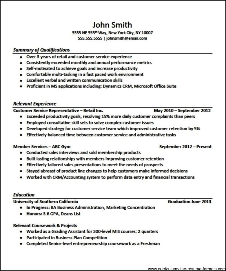 Professional Resume Templates For Experienced Free