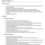 Purchase Executive Resume Samples