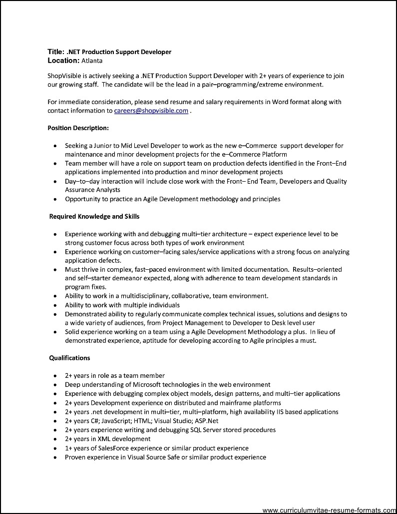 resume format for 2 year experienced it professionals free samples examples format resume. Black Bedroom Furniture Sets. Home Design Ideas