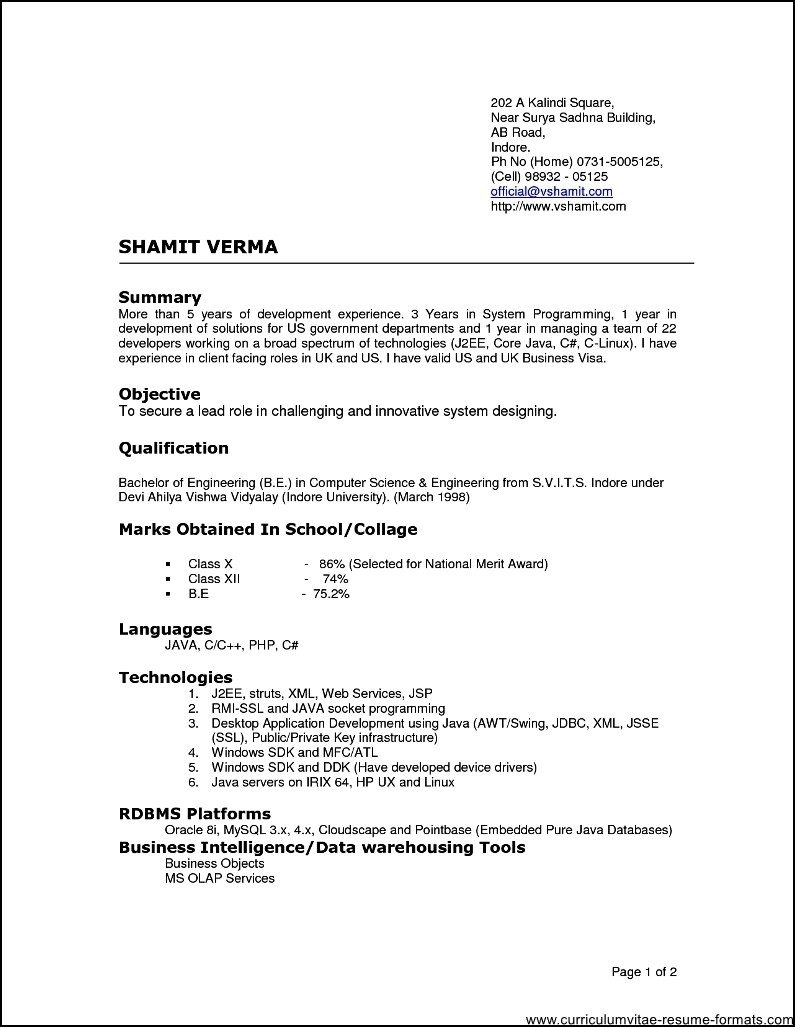 Cover Letter For Experienced It Professionals