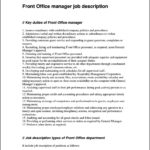 Resume Format For Front Office Executive