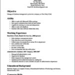 Resume Objective Office Clerk