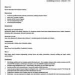 Resume Openoffice Template