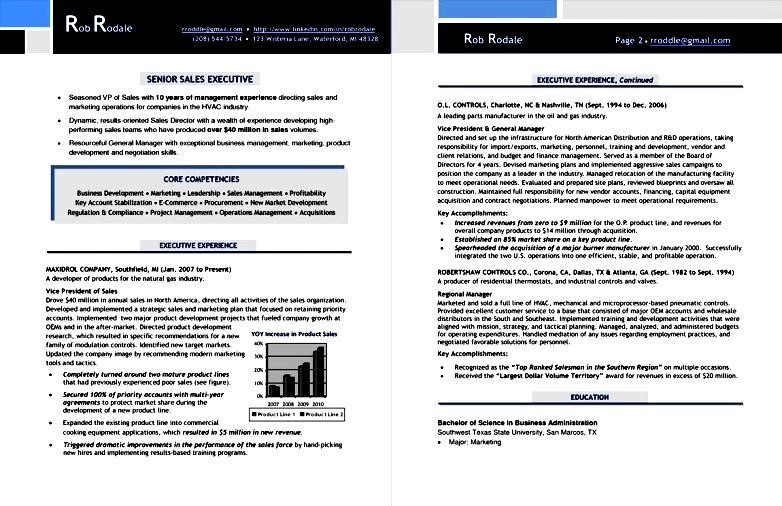 sales executive resume examples